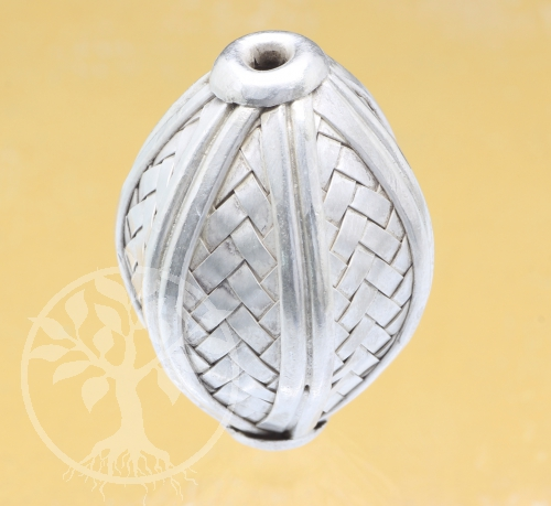 Silver Beads Weave Sterlingsilver 925 25x38mm