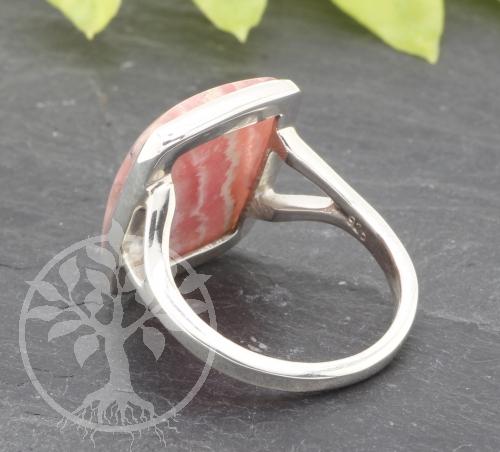 Rhodochrosite Ring Sterling Silver 925 19x20 mm Size 57