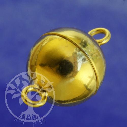 Magnetschließe 16mm Gold Silber 925 vergoldet glänzend Magnetverschluss