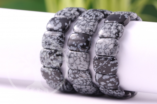 Schneeflockenobsidian Armband Beatle Small 17mm