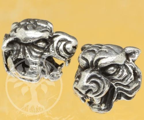 Silberperle Tigerkopf Perle 925 10x9mm