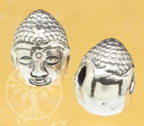 Buddha-Kopf Silberperle Silber 925 13x10mm
