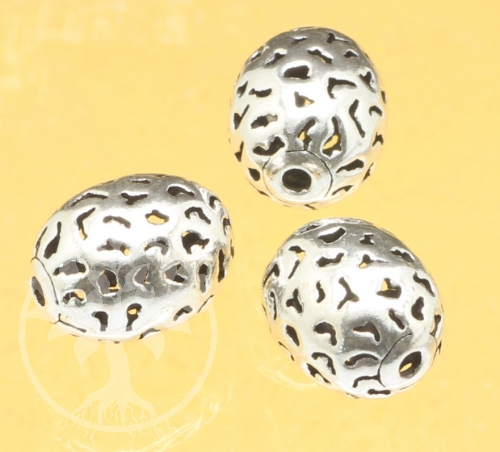 Silver Beads Oval sterling silver 925 13x10mm