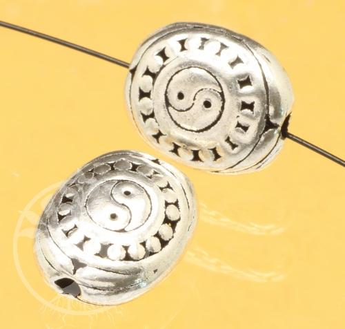 Yin Yang Silberperle 925 oval 925 13x11mm Armbandperle