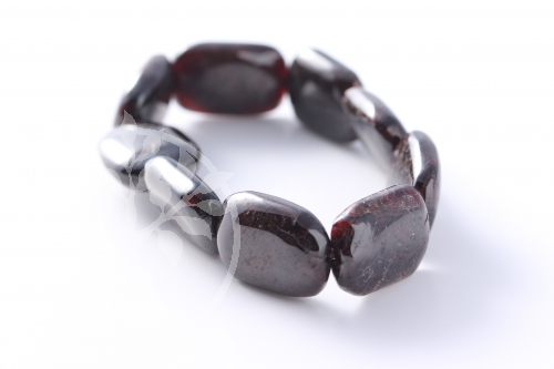Granat Armband Rechteck Perlen 15*25mm