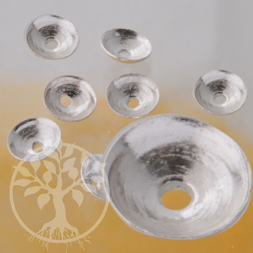 Perlenkappen Halblinsen 4mm klein Silber925 Beadcaps