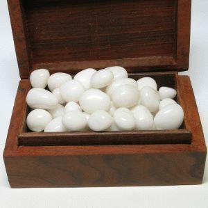 Schneequarz Milchquarz Trommelsteine 1kg weiße Steine Großhandel Größe 12-20mm S