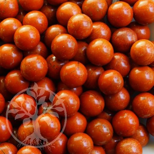 Roter Jaspis Kugel 12 mm kleine Steinkugel ohne Loch