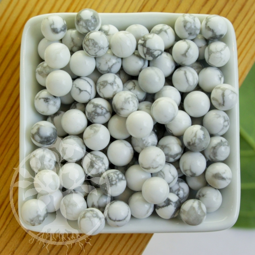 Magnesit Kugel 12 mm kleine weiße Edelsteinkugel ohne Loch