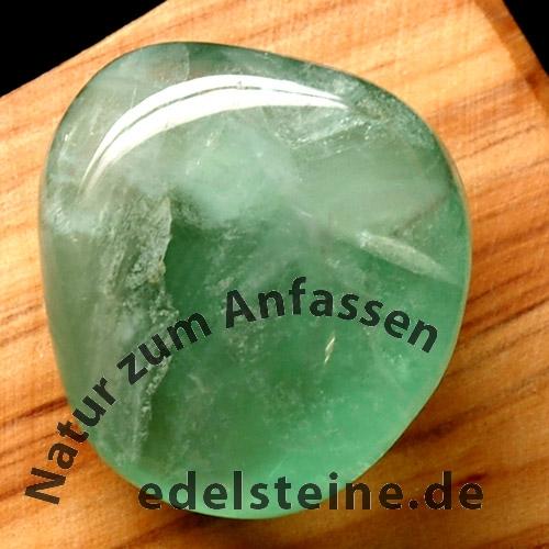 Fluorit Grün Handschmeichler A/AA grüne Fluorit Trommelsteine