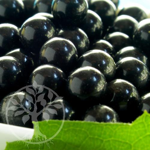 Obsidian Schwarze Kugel ohne Loch 12 mm