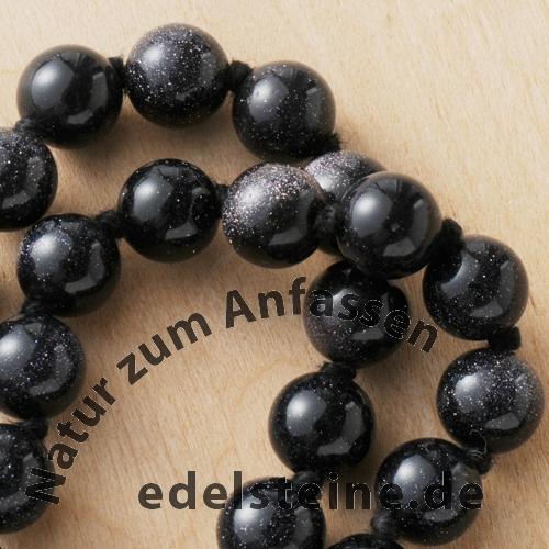 Blaufluss Halskette 60cm 8mm Perlenkette