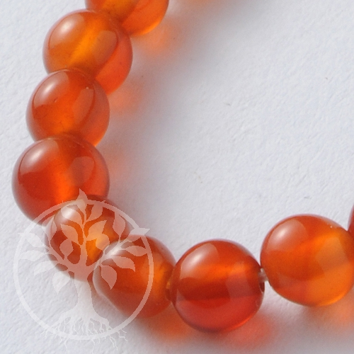 Gemstone Beads Carnelian A-Quality 6mm