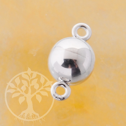 Magnetic clasp little ball 6 mm, silver 925