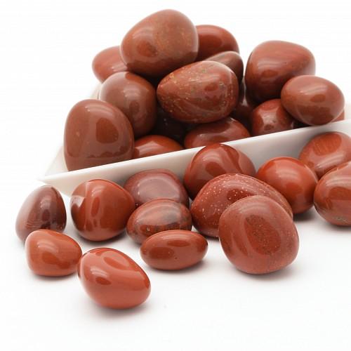 Roter Jaspis Trommelsteine 100Gramm 13/18mm  - Auch Wassersteine für Reagenzglas