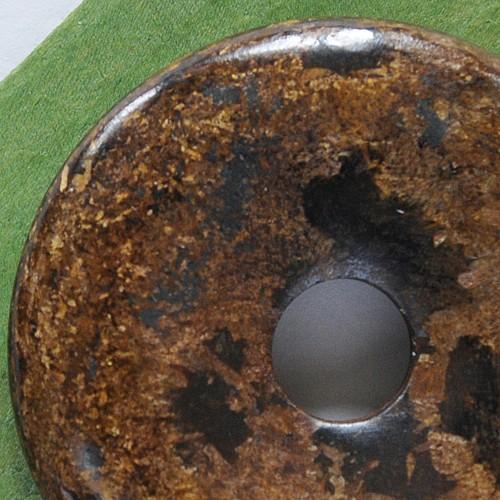 Bronzit Donut 40 mm Bronzit Edelstein Scheibe Anhänger