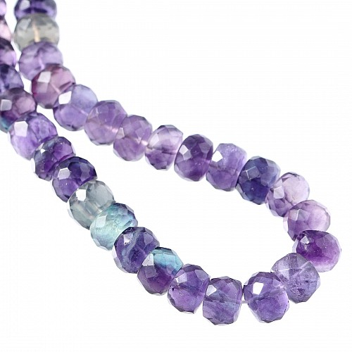 Fluorit facettierte Perlen 8mm Natur Violett