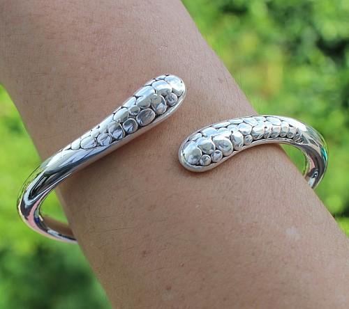 925 Silber Armband mit Scharnier Suppi Silber Armreif leicht zu öffnen