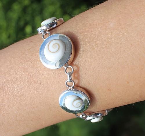 Silber Armband Shiva Muschel 19,5cm