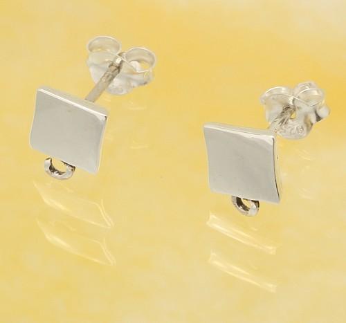 Ear Stud Sterling Silver 925 6mm