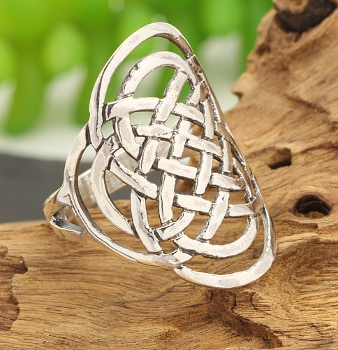 Silver Rings Celtic Knot Steringsilver 925 28mm