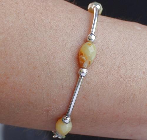 Opal Armband Honig Opal Sterling Silber 925 19cm3