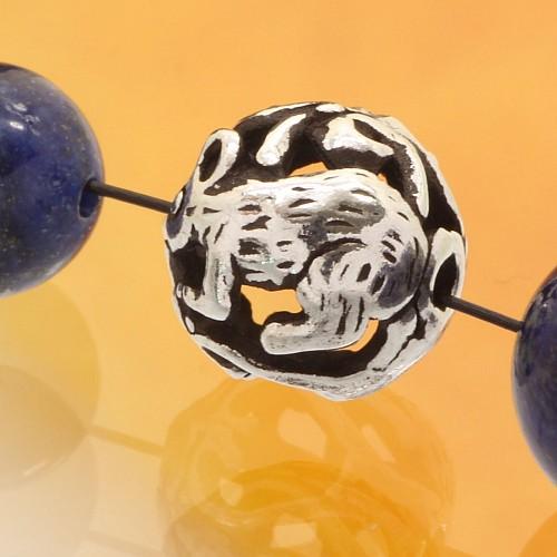 Silber Perle 925er Tierkreiszeichen Ratte 10mm