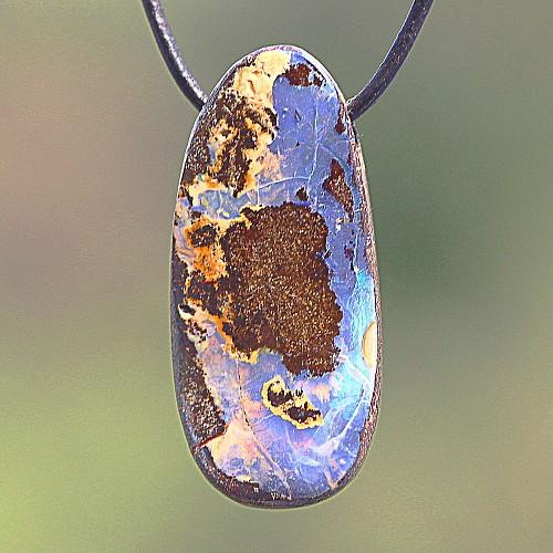 Opal Stein Anhänger 27*13mm
