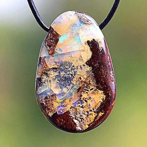 Opal Stein Anhänger 25*16mm