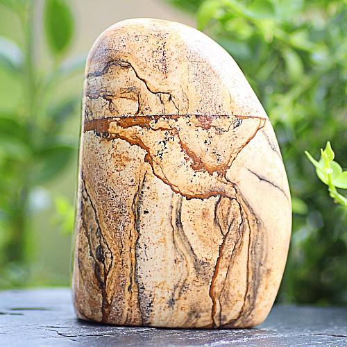 Freiform Jasper-Landschafts Edelstein Unikat 76*53*31mm