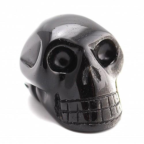 Obsidian schwarzer Schädel Edelstein 35*37*39mm