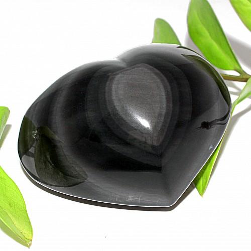 Steinherz aus Obsidian mit Schimmernder Oberfläche A+/AA 61*78*49mm