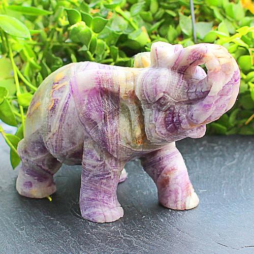 Elefant Fluorit Edelstein 67*47*100mm