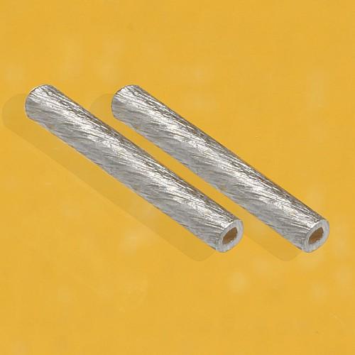 Silver Longitudinal Bead brushed 20x2mm
