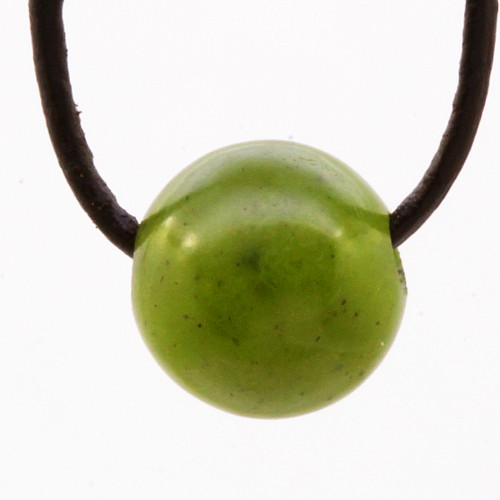 Nephrit Jade Kugel Stein Anhänger 10mm
