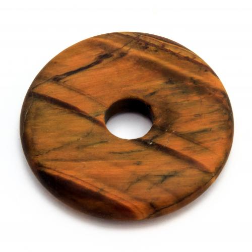 Tigerauge Donut Matt Edelstein Anhänger 40mm