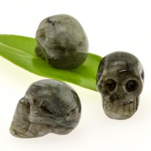 Labradorit Skull Kristallschädel kleiner Edelstein hoher Qualität ca.28mm