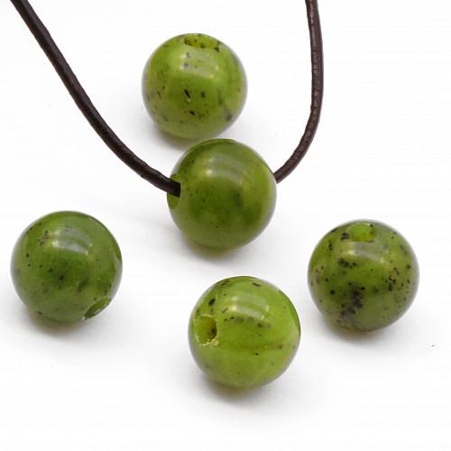 Nephrit Jade Kugel Stein Anhänger 12mm