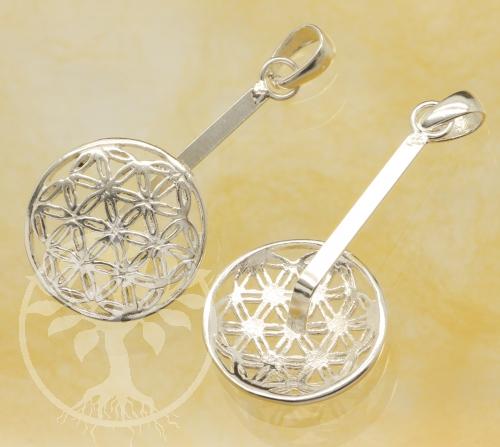 Donuthalter Blume des Lebens Silber 925 für ca. 40 mm Donuts Länge 42mm