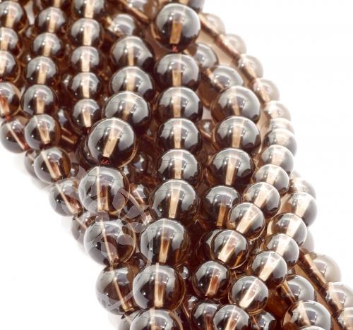 Smokey Quartz Round Beads 8mm