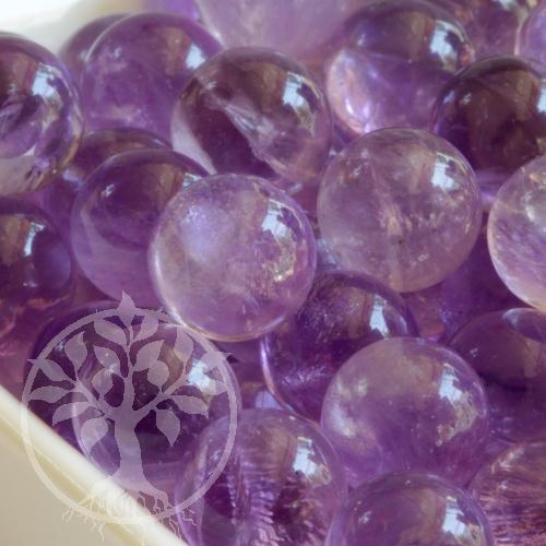 Amethyst Kugel Spielstein 12 mm ohne Loch
