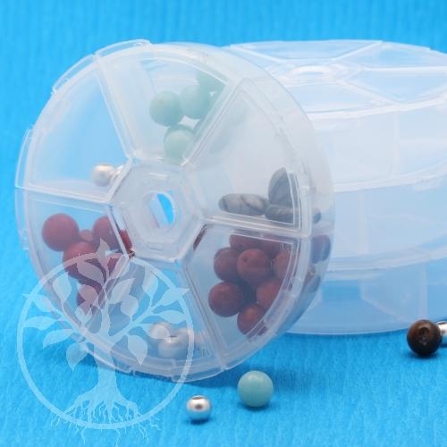 Perlenbox kleiner Perlen Sortierkasten 6 Fächer 10 Stück