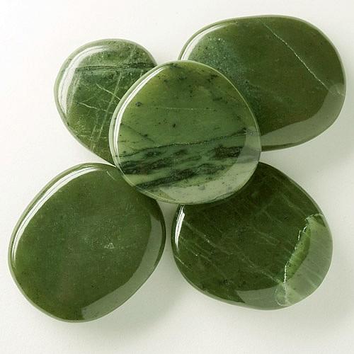 Jade / Nephrit Jade Seifenstein A flacher Edelstein Jade 30/45mm*10mm