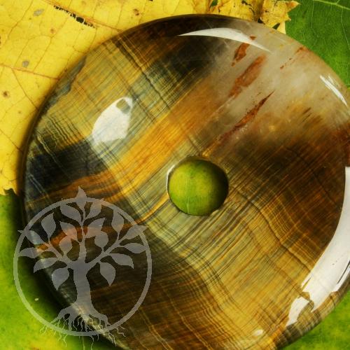 Donut Tigerauge Falkenauge 40mm Steinscheibe Anhänger