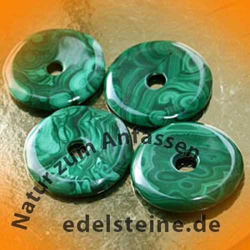 Malachit Donut Gross 36-38mm Edelsteinscheibe mit Loch