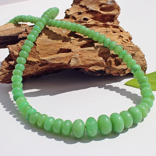 Chrysopras Halskette Runde Form Perlen 45 Cm