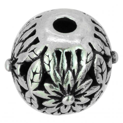 Silver Pearl Flower Power Sterling Silver 925 10 mm