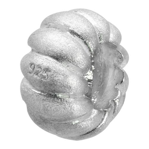 Spiralkreis Kürbis runde Perlen Sterling Silber 925 11x0.6mm