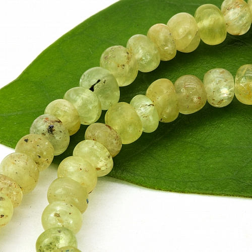 Chrysoberyl Stone Necklace 45cm Chrysoberyl Button Beads 4mm