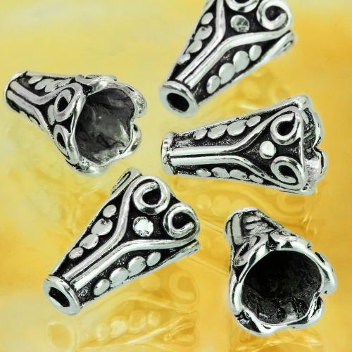 Silberperle Kegel Ornament Ägypten 13 mm